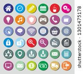 icons websites and mobile vector | Shutterstock .eps vector #1301475178