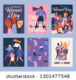 international women's day.... | Shutterstock .eps vector #1301477548