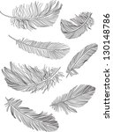 feathers | Shutterstock .eps vector #130148786