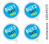 sticker or label for marketing... | Shutterstock . vector #130149272
