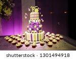 sweet 15 birthday cake... | Shutterstock . vector #1301494918