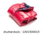 folded blue and red full zipper ... | Shutterstock . vector #1301500015