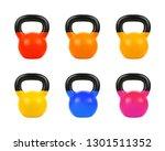 Set Vector Gym Kettlebell Of...