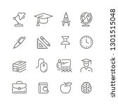 education related icons  thin... | Shutterstock .eps vector #1301515048