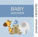 baby shower card | Shutterstock .eps vector #130152782