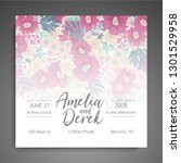 wedding invitation. beautiful... | Shutterstock .eps vector #1301529958