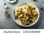 homemade pasta with meat and... | Shutterstock . vector #1301550085