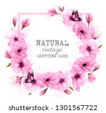 natural vintage greeting card... | Shutterstock .eps vector #1301567722