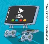 video game technology set... | Shutterstock .eps vector #1301567962