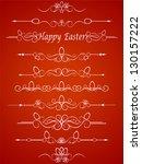 calligraphic elements vintage...   Shutterstock .eps vector #130157222
