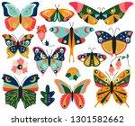 vector collection of bohemian... | Shutterstock .eps vector #1301582662