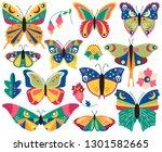 vector collection of bohemian...   Shutterstock .eps vector #1301582665
