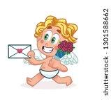 cupid character design  happy...   Shutterstock .eps vector #1301588662