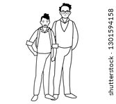 father with son characters | Shutterstock .eps vector #1301594158