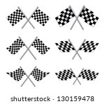 racing flags is an illustration ... | Shutterstock .eps vector #130159478