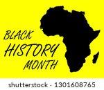 black history month vector... | Shutterstock .eps vector #1301608765