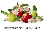 still life of apples with...   Shutterstock .eps vector #130161335