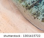 amazing beach and waves from...   Shutterstock . vector #1301615722