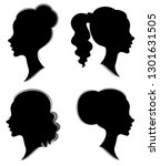 collection. silhouette of the... | Shutterstock .eps vector #1301631505