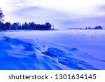 winter landscape of a waterway...   Shutterstock . vector #1301634145