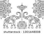 oriental east asian traditional ... | Shutterstock .eps vector #1301648008