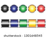 vector buttons for web design.... | Shutterstock .eps vector #1301648545