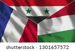 france and syria and hungary... | Shutterstock . vector #1301657572