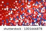 colors of american flag  red ... | Shutterstock .eps vector #1301666878