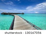 beautiful beach with water... | Shutterstock . vector #130167056