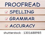 proofreading your message for... | Shutterstock . vector #1301688985