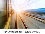 old stream green train that... | Shutterstock . vector #130169438