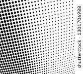 halftone monochrome abstract | Shutterstock .eps vector #1301706988