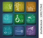 science icons. set of the... | Shutterstock .eps vector #130171562
