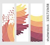 set of abstract vertical header ... | Shutterstock . vector #1301715658