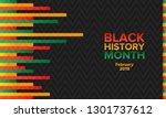 african american history or... | Shutterstock .eps vector #1301737612