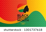 african american history or... | Shutterstock .eps vector #1301737618
