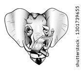 gentleman elephant victorian...   Shutterstock .eps vector #1301739655