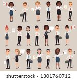 set office workers. business... | Shutterstock . vector #1301760712