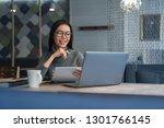horizontal shot of female asian ... | Shutterstock . vector #1301766145