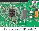 green printed modem motherboard ...   Shutterstock . vector #1301769802