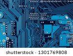 close up of old printed blue... | Shutterstock . vector #1301769808