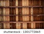brown wooden texture flooring... | Shutterstock . vector #1301772865