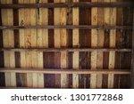 brown wooden texture flooring... | Shutterstock . vector #1301772868