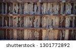 brown wooden texture flooring... | Shutterstock . vector #1301772892