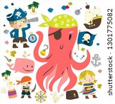 pirate adventures pirate party...   Shutterstock . vector #1301775082
