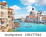 canal grande and basilica di... | Shutterstock . vector #130177562