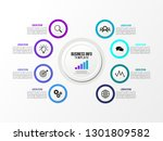 business data visualization... | Shutterstock .eps vector #1301809582