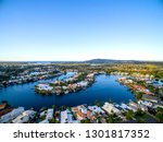 drone image of beautiful...   Shutterstock . vector #1301817352