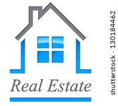 house   real estate sign  ... | Shutterstock .eps vector #130184462