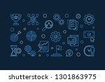 business goals vector outline... | Shutterstock .eps vector #1301863975